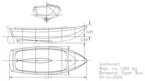 aluminium snijpakket bouwpakket stalen vlet 5 80 m dutch classic boat design