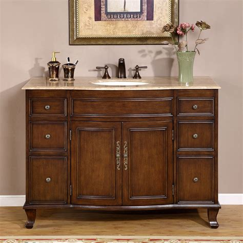 bathroom single sink vanity cabinet 48 quot travertine countertop bathroom single vanity lavatory