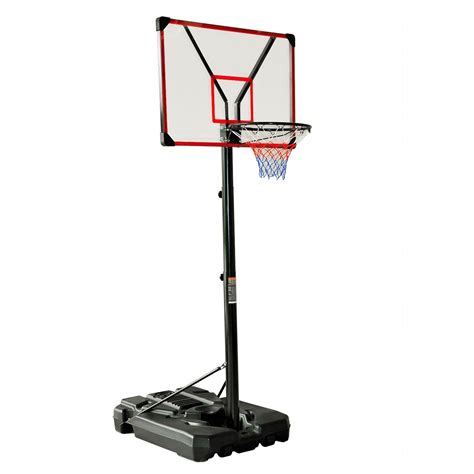 aosom 10 portable adjustable height outdoor backboard