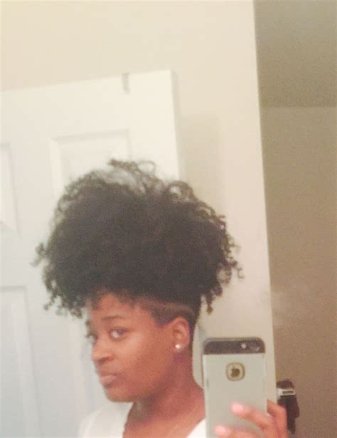 natural hair shaved nape i extended my nape undercut natural hair pinterest