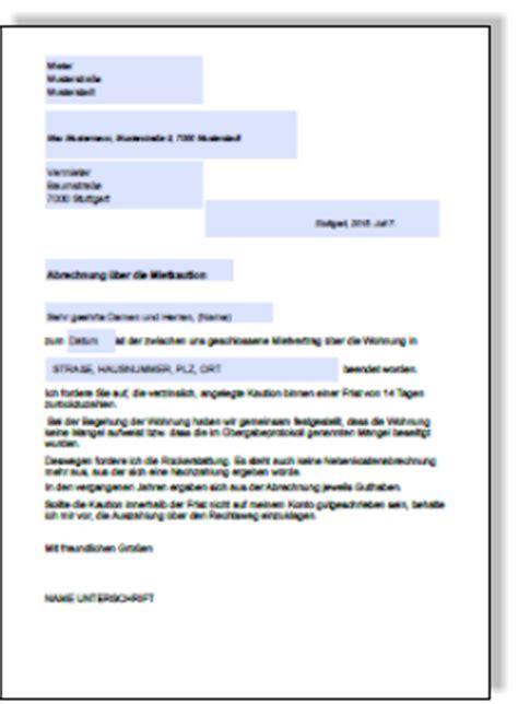 wohnungsübergabeprotokoll formular bei auszug musterschreiben aufforderung r 252 ckzahlung miekaution an