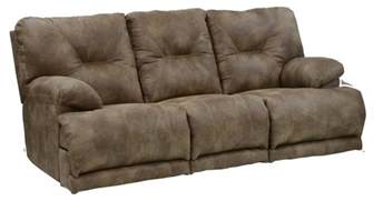 power 3 seat quot lay flat quot reclining sofa with fold