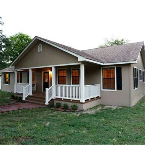 Awesome Porch Makes This Doublewide Look Like A Ranch House Plans With Wide Front Porch