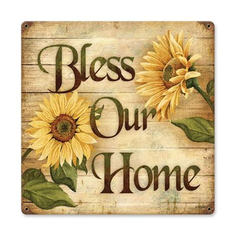 bless our home tin metal sign reproduction american