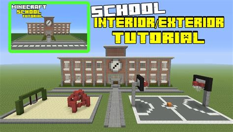 youtube tutorial minecraft minecraft tutorial how to make a school interior exterior