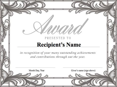 free award certificate templates for students free award template helloalive