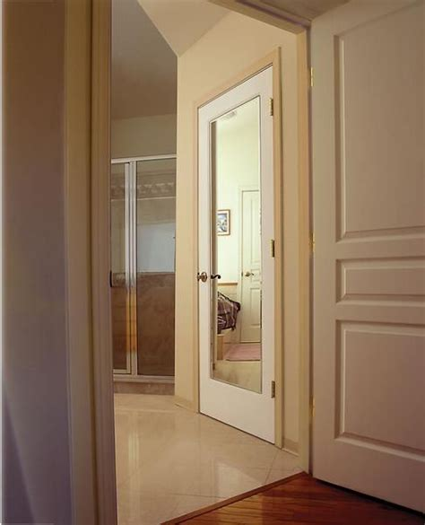 Beveled Mirror Closet Doors Jeld Wen Interior Door Impression Beveled Mirror On A Hollow Molded Panel Interior Doors