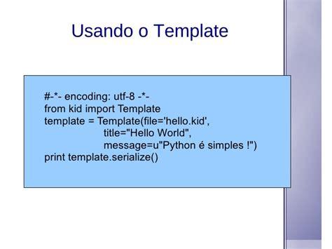 python template entendendo framework web python