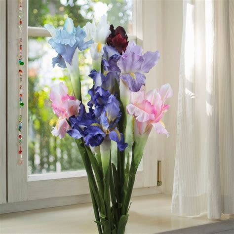 home decor flowers aliexpress com buy 6pcs silk artificial flower iris