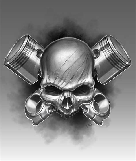 a few new skulls by theskullguy on deviantart piston skull by artofpister deviantart on deviantart skulls etc posts