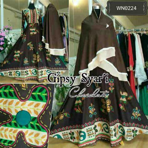 Baju Gamis Katun Bangkok Irene Maxi Fit Xl Baju Gamis Modern Gipsy Syari A168 Busana Muslim Remaja