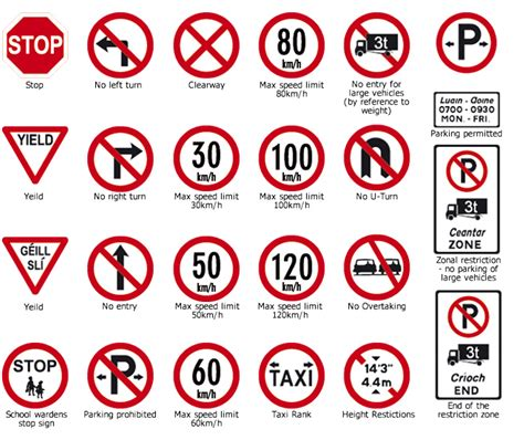 printable irish road signs irish road signs
