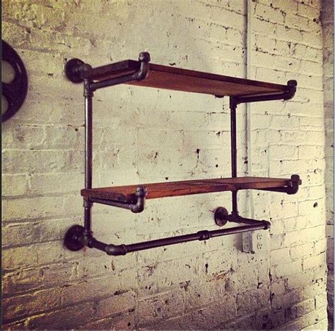Hanging Bar Shelf by Industrial Shelf With Hanging Bar No Assembly Needed