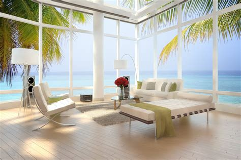 apartment wallpaper interior stylish design modern luxury beach loft apartment