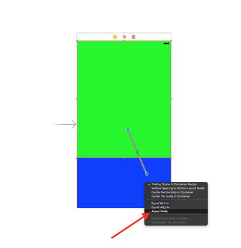 autolayout view height ios autolayout make height of view relative to half