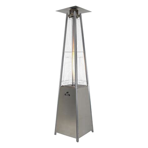 Athena Stainless Steel Flame Gas Patio Heater Heat Outdoors Stainless Steel Patio Heaters