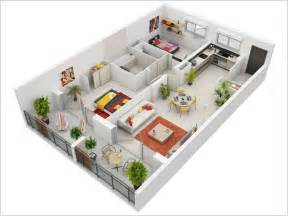 2 Bedroom Apartment Floor Plan 10 Awesome Two Bedroom Apartment 3d Floor Plans