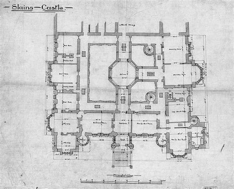 scottish castle floor plans slains castle 1st floor plan slains castle also known