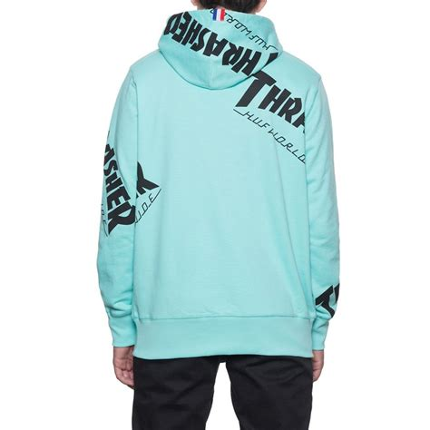 Sweater Hoodie Thrasher X Huf Premium huf x thrasher tour de stoops all hoodie mint