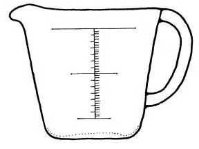Free Coloring Pages Of 1 Cup Measuring sketch template