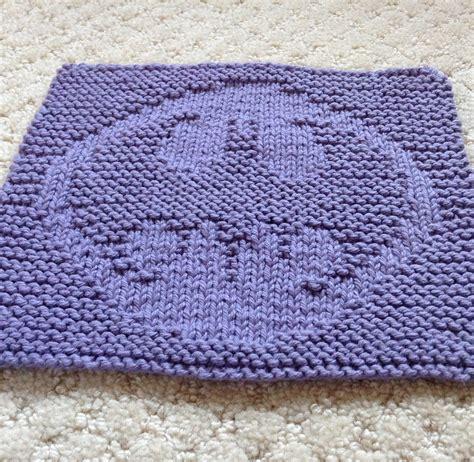knitting pattern batman logo science fiction and fantasy dish cloth knitting patterns