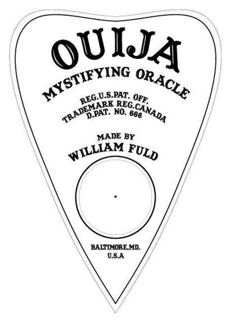 printable ouija board template printable planchette halloween sideshow pinterest