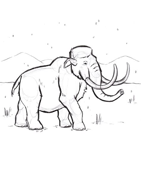 wooly mammoth coloring page drawing sketch coloring page