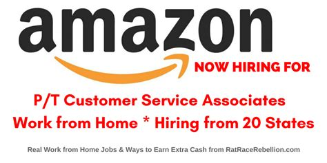 work from home at customer service associate