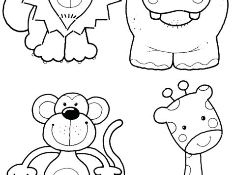 Coloring Page Animals by Zoo Animal Coloring Pages For Preschool
