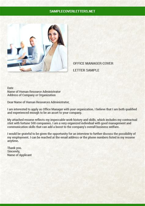 Office Manager Cover Letter by Office Manager Cover Letter Sle Sle Cover Letters