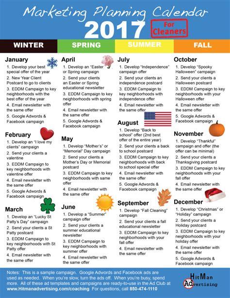 Marketing Calendar Marketing Calendar For Cleaning Businesses Hitman