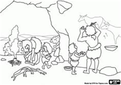 early humans coloring page early man on pinterest article html student centered