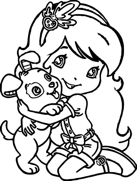 coloring pages of a girl puppy pages for girls coloring pages