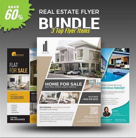 real estate premium templates 40 professional real estate flyer templates