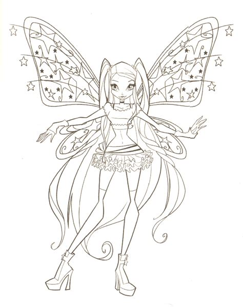 Coloring Pages The Winx Club Photo 18341757 Fanpop Winx Club Coloring Page