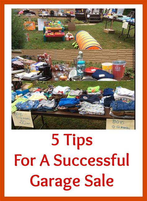 Tips For A Successful Garage Sale by Our Family On A Budget 5 Tips For A Successful Yard Sale