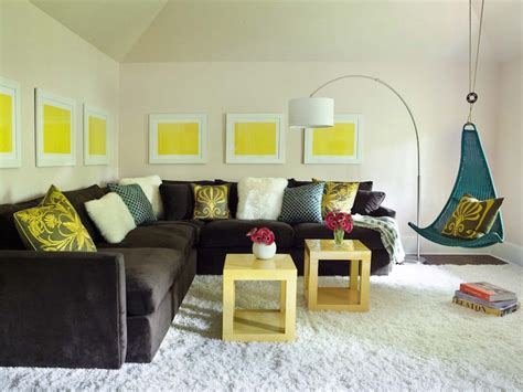 yellow and brown living room brown turquoise yellow living room