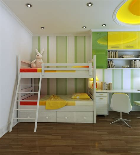 Green Yellow Bedroom Designs Vu Khoi Childrens Yellow And Green Bedroom Interior