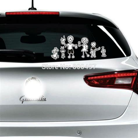 Auto Sticker Löwe family members reflective car covers we are family car