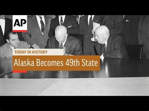 Alaska The 49th State by Alaska Becomes 49th State 1959 Today In History 3