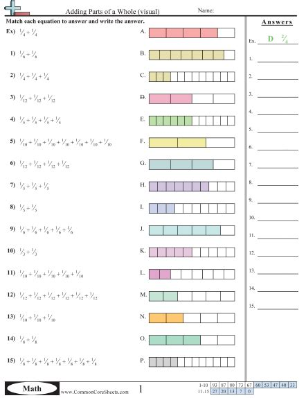 Decompose Fractions Worksheet search results for decomposing fractions worksheets 4th