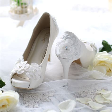 High Heels Wanita Lhr 885 Coklat sepatu peeptoe chrysant putih