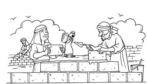 free bible coloring pages ezra ezra and nehemiah crafts for children