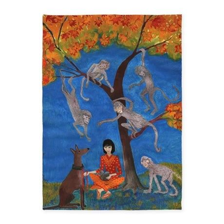Monkey Area Rug Puzzled Monkey Tree 5 X7 Area Rug By Admin Cp22139108
