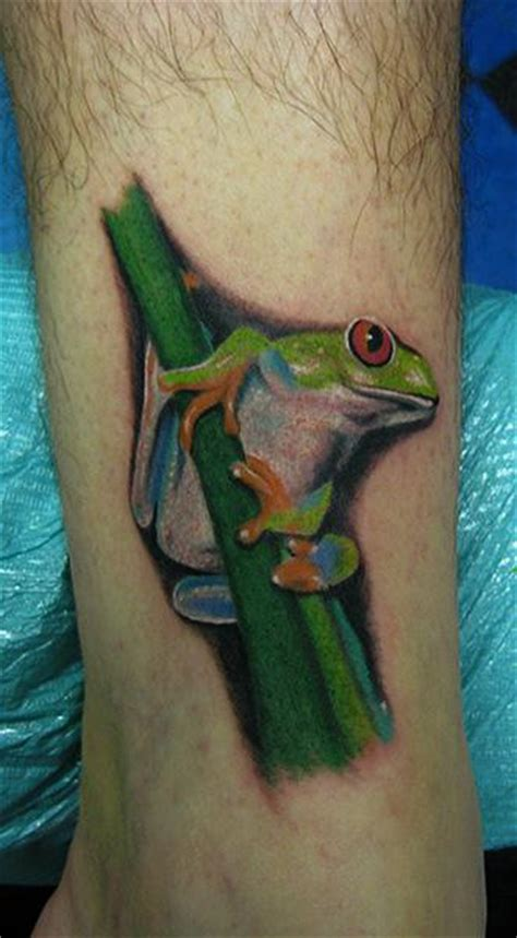 tree frog tattoo eyed tree frog by daniel chashoudian tattoonow