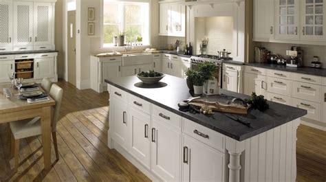 Edwardian Platinum White Kitchen Traditional White Edwardian Kitchen Design