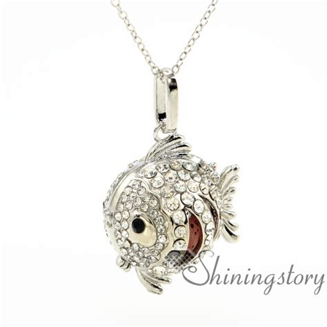 diffuser necklace fish aromatherapy necklace wholesale diffuser