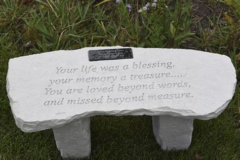memorial bench sayings personalized memorial bench your life was a blessing