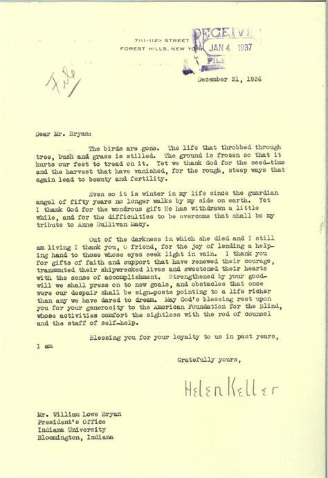sincerely letters archives helen keller