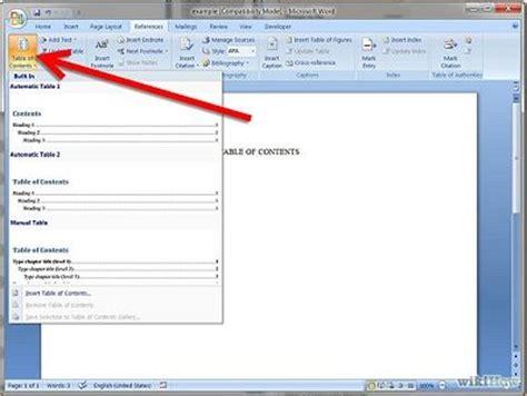 cara membuat daftar isi angka romawi cara membuat daftar isi otomatis di microsoft word